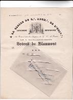 27 - GISORS - FRANC-MACONNERIE - Loge Saint Jean Sous Le Titre Distinctif Des  FRERES De BLANMONT Entre 1850 Et 60 - De - Vieux Papiers