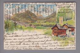 AK CH GR Pontresina 1902-10-13 Litho Künstler S.Giacometti - GR Grisons