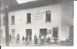 Ransart - Photo Carte - A La Maison Blanche - Café Billard - Tenu Par C. JONLET -Belle Carte Animée-Circulé:1912 - 2sans - Charleroi