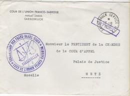 SAAR Lettre 13-9-1956 - Zona Francese