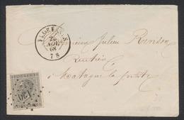 """émission 1865 - N°17 Sur Env. Obl Pt 130 çàd Florennes (1868) Vers Matagne-la-petite + Cachet Verso """"Mariembourg"""" - 1865-1866 Linksprofil"""