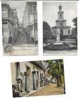 Algérie > (Skikda) PHILIPPEVILLE Lot De 3 Cartes Cpa-scan R/V Des 3 Cartes -Voir ETAT  (Rue 61ᵉ De Ligne/ Eglise/ Musée* - Skikda (Philippeville)