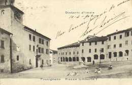 Dintorni D'Imola Tossignano Piazza Umberto I RV Timbre Cachets - Bologna
