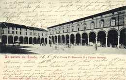 Un Saluto Da Imola Piazza V Emanuele II E Palaeeo Sersanti    RV Timbre Cachets - Bologna