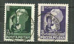 POLAND Oblitéré 689-690 Concours International De Violon Wieniawski Musique Musicien - 1944-.... République