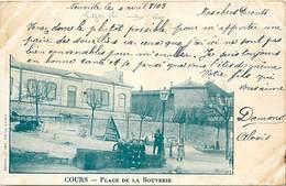 Dpts Div.-ref-AP294- Rhône - Cours La Ville - Place De La Bouverie - Voir Description - - Cours-la-Ville