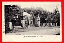 Chimay. Château De Beauchamps. Entrée Du Parc. Ca 1900 - Chimay