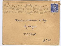 HAUTES-PYRENEES - Flamme Illustrée Ondulée Continue BAGNERES-DE-BIGORRE Du 8 VII 53 - Marcophilie (Lettres)