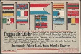Flaggen Aller Länder, 1898 - Hannoversche Fahnen-Fabrik Franz Reinecke AK - Ships