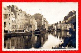 Namur. Carte-photo. Quai De La Sambre , Péniches . Publicite Gas-Oil  A.P.C. 1950 - Namur