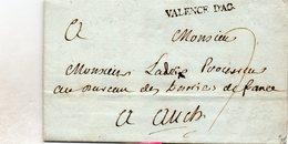 Lot-et-Garonne - LAC (datée 21 Juin 1773) Marque VALENCE D'AG (Lenain 3) - 1701-1800: Voorlopers XVIII