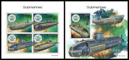 SIERRA LEONE 2019 - Submarines. M/S + S/S Official Issue [SRL191018] - Sierra Leone (1961-...)
