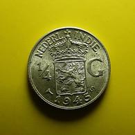 Netherlands East Indies 1/4 Gulden 1945 S Silver - [ 4] Colonies