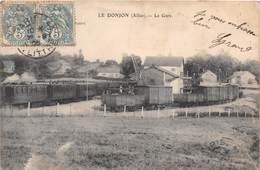 LE DONJON (03) -  La Gare - Autres Communes