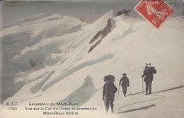 74 CHAMONIX MONT BLANC ALPINISTES COL DU DOME DU GOUTER SOMMET DU MONT BLANC EDITEUR FRANCO SUISSE BF 1780 - Chamonix-Mont-Blanc