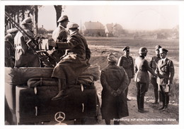 """III. Reich, Propaganda  Karte, """" Begrüssung Auf Einer Landstrasse In POLEN """", REKO WARSCHAU Nach Hamburg """" - Weltkrieg 1939-45"""