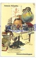 Petit étudiant Concentré, Chien, Chat, Mappemonde, Calculs ... Sciences Naturelles. Natuurwetenschappen. JC. 1964 - Contemporain (à Partir De 1950)