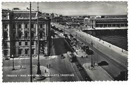 1656 - TRIESTE RIVA MANDRACCHIO E LLOYD TRIESTINO ANIMATA 1954 - Trieste