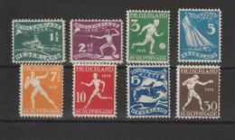 Pays Bas 1928  JO D'Amsterdam 199-206 8 Val ** MNH - 1891-1948 (Wilhelmine)