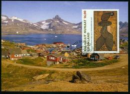 Mk Greenland Maximum Card 1997 MiNr 311 | Greenland Art, 20th Death Anniv Of Aage Gitz-Johansen - Cartes-Maximum (CM)