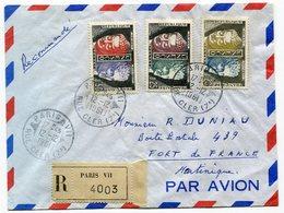 RC 14815 FRANCE 1961 SERVICE LETTRE RECOMMANDÉE POUR LA MARTINIQUE TB - 1961-....