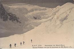74 CHAMONIX MONT BLANC  AVALANCHE  AU GRAND PLATEAU ALPINISTES GLACIER DES BOSSONS  EDITEUR FRANCO SUISSE BF 1773 - Chamonix-Mont-Blanc