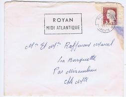 CHARENTE-MARITIME - Flamme Illustrée à Gauche ROYAN Du 1 - 2  1961 - Marcophilie (Lettres)