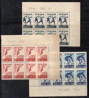 BF150 - FINLANDIA 1938 , Serie N. 200/202 In Blocchi Di Otto  *** (2380A) Gomma Bicolore - Falkland