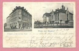67 - STRASSBURG - STRASBOURG NEUDORF - Gruss Aus Neudorf - Wirtschaft Zur Lilie Von Xaver Waibel - Schule - Strasbourg