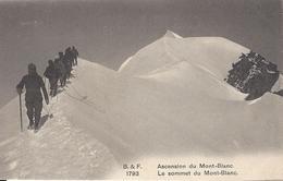 74 CHAMONIX MONT BLANC ALPINISTE DANS L ASCENSION DU MONT BLANC EDITEUR FRANCO SUISSE BF 1793 - Chamonix-Mont-Blanc