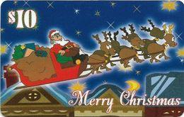 USA - KARIS Comm. - Merry Christmas, Santa & Raindeers, Remote Mem. 10$, Exp. 01.1999, Mint - Otros