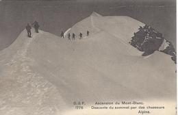 74 CHAMONIX MONT BLANC CHASSEURS ALPINS DANS LA DESCENTE DU MONT BLANC EDITEUR FRANCO SUISSE BF 1776 - Chamonix-Mont-Blanc