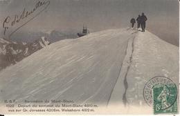 74 CHAMONIX MONT BLANC OBSERVATOIRE JANSEN ALPINISTE AU SOMMET DU MONT BLANC  EDITEUR FRANCO SUISSE BF 1822 - Chamonix-Mont-Blanc