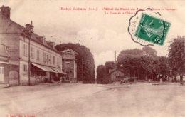 S3257 Cpa 02 Saint Gobain - L' Hôtel Du Point Du Jour, La Route De Septvaux, La Place De La Chesnoye - Other Municipalities