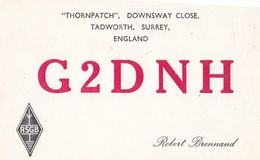 Tadworth Surrey QSL Amateur Radio 1960s Postcard - Surrey