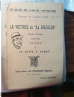 PATRIOTIQUE GUERRE 14 /VICTOIRE DE LA MADELONCHARLES CLUNY BOITE A FURSY - Partitions Musicales Anciennes