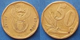 SOUTH AFRICA - 50 Cents 2010 Strelitzia Plant KM# 496 Republic - Edelweiss Coins - Sudáfrica