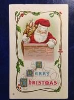 "Complete Series Of 6-""USA-embossed-Santa On The Job""--1911 - Santa Claus"