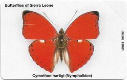 Sierra Leone - SLNTC - Urmet - Butterflies - Cymothoe Hartigi - 10Units, Mint - Sierra Leone