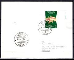 Andorre Espagnol Europa 1972 Oblitéré Sur Lettre Entière. B/TB. A Saisir! - Andorra Spagnola