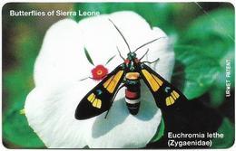 Sierra Leone - SLNTC - Urmet - Butterflies - Euchromia Lethe - 25Units, Mint - Sierra Leone
