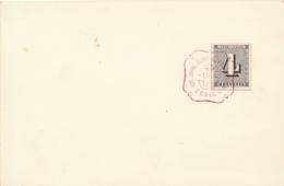 Schweiz - 1943 - 4c Stamp From Block Cancelled On Card - Briefe U. Dokumente