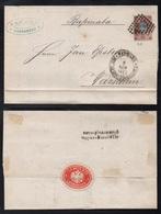 POLOGNE - POLSKA - CHOROSZCZ / 1875 PLI AVEC CORRESPONDANCE POUR VARSOVIE (ref 5387) - ....-1919 Provisional Government