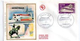Enveloppe Premier Jour -Aérotrain -1970 - 1970-1979