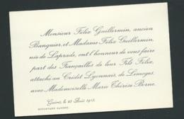 F.p. Fiançailles De Felix Guillermin Avec MLL Marie Thérèse Borne  à Guéret Le 25/08/1913 Bpho2719 - Verlobung