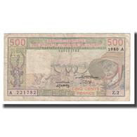 Billet, West African States, 500 Francs, 1979-1980, 1980, KM:105Ab, TB - États D'Afrique De L'Ouest