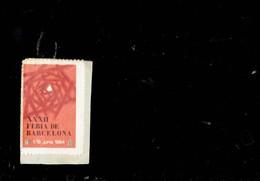 SPAIN 1964- VIGNETA XXXII FERIA DE BARCELONA DE 1/15 JUNIO 1964 - SOBRE PAPEL RE:102MNTSE - Barcelona