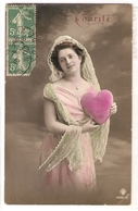 GHL 056 , OLD POSTCARD , FEMALE FANTASY , FOI , CHARITE , ESPERANCE - Donne