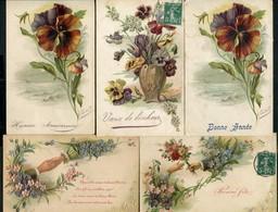 LOT DE 5 CARTES POSTALES ILLUSTREES PAR GUILLOT - Postkaarten