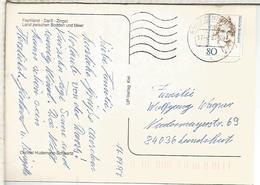 ALEMANIA POSTAL FISCHLAND CON MAT BRIEFZENTRUM 16 - [7] Repubblica Federale